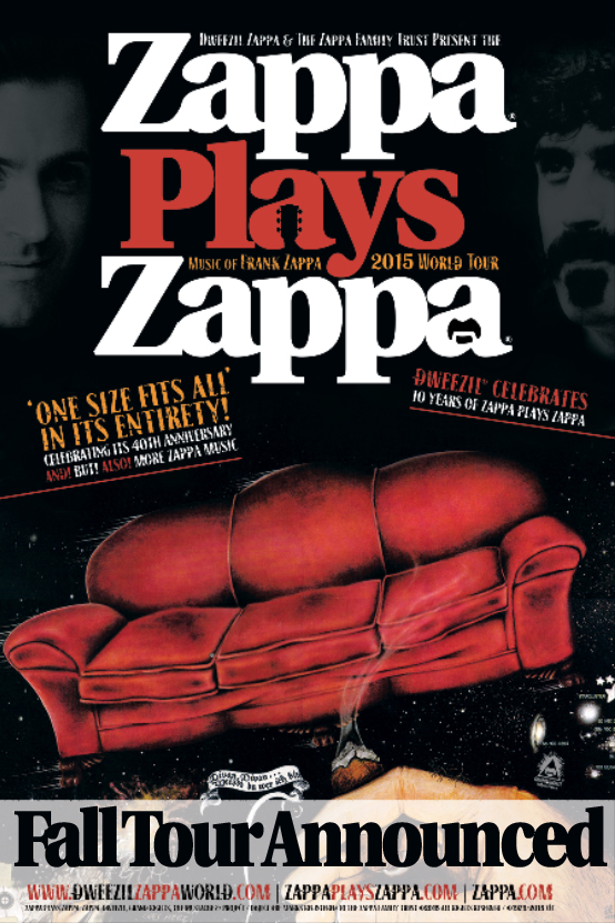 Zappa Plays Zappa - Fall Tour 2015