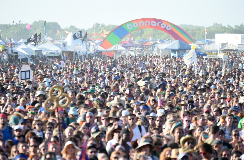 MANCHESTER, TN - JUNE 13:  A view of the audience while Hozier performs onstage at What Stage during Day 3 of the 2015 Bonnaroo Music And Arts Festival on June 13, 2015 in Manchester, Tennessee.  (Photo by Jeff Kravitz/FilmMagic for Bonnaroo Arts and Music Festival)