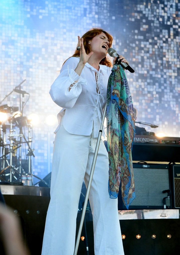 MANCHESTER, TN - JUNE 14:  Singer Florence Welch of Florence and the Machine performs onstage at What Stage during Day 4 of the 2015 Bonnaroo Music And Arts Festival on June 14, 2015 in Manchester, Tennessee.  (Photo by Jeff Kravitz/FilmMagic for Bonnaroo Arts and Music Festival)